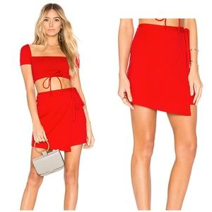 Privacy Please Revolve Miller Wrap Skirt Red